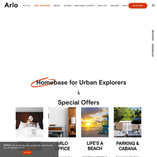 Arlo Hotels - Homepage