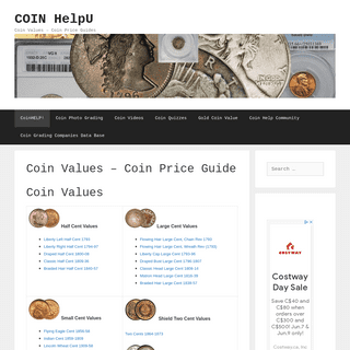 COIN HelpU – Coin Values – Coin Price Guides