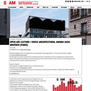 Home - S AM Schweizerisches Architekturmuseum
