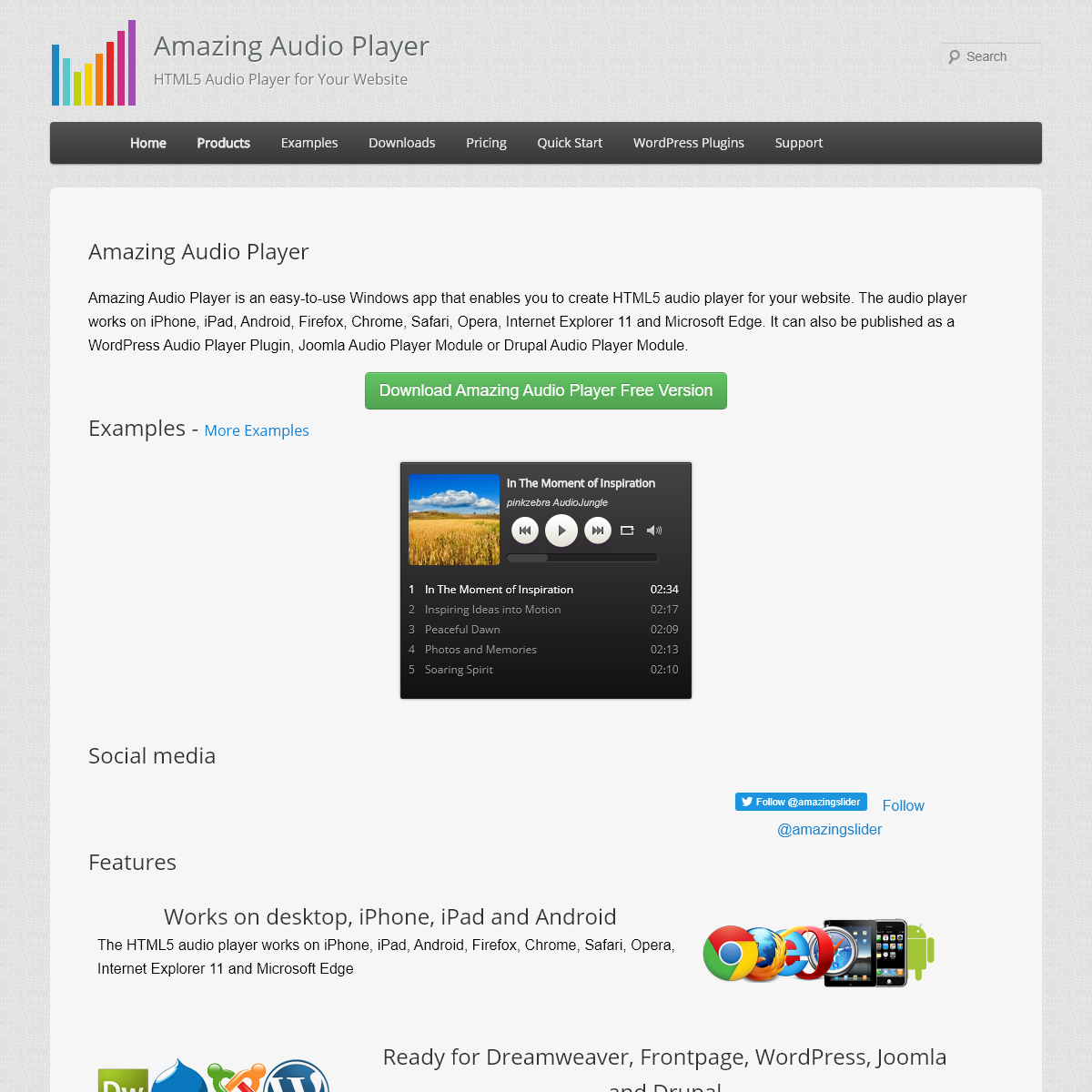 Amazing Audio Player - HTML5 Audio Player for Your Website