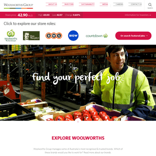 WOW Careers- Jobs and Careers at Woolworths Group