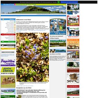 Rhön - rhoenline.de - entdecken Sie die Rhön online. Urlaub in der Rhön