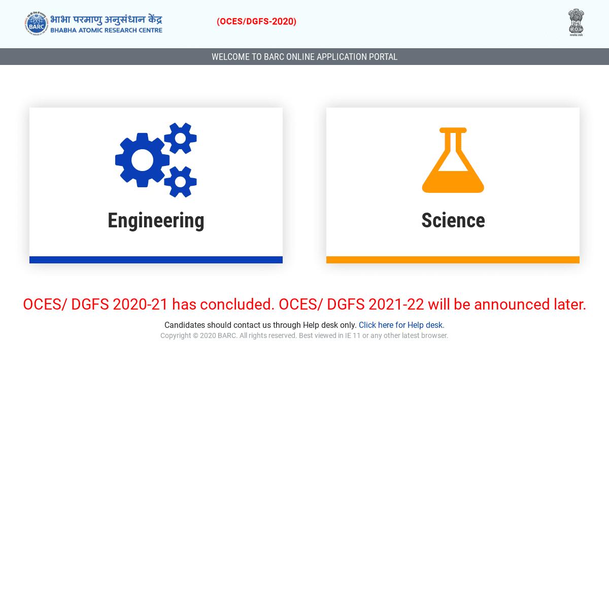 BARC Online Registration
