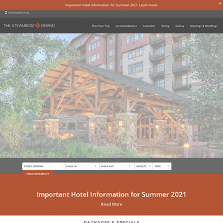 Official Website for The Steamboat Grand, Steamboat Springs, Colorado