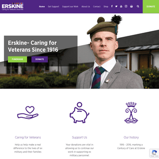 Erskine Care Homes- Caring for Veterans Since 1916