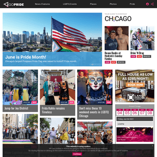 GoPride Chicago - ChicagoPride.com - LGBTQA global and community news, events, reviews and celebrity interviews