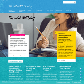 The Money Charity - Financial Wellbeing + Financial Education