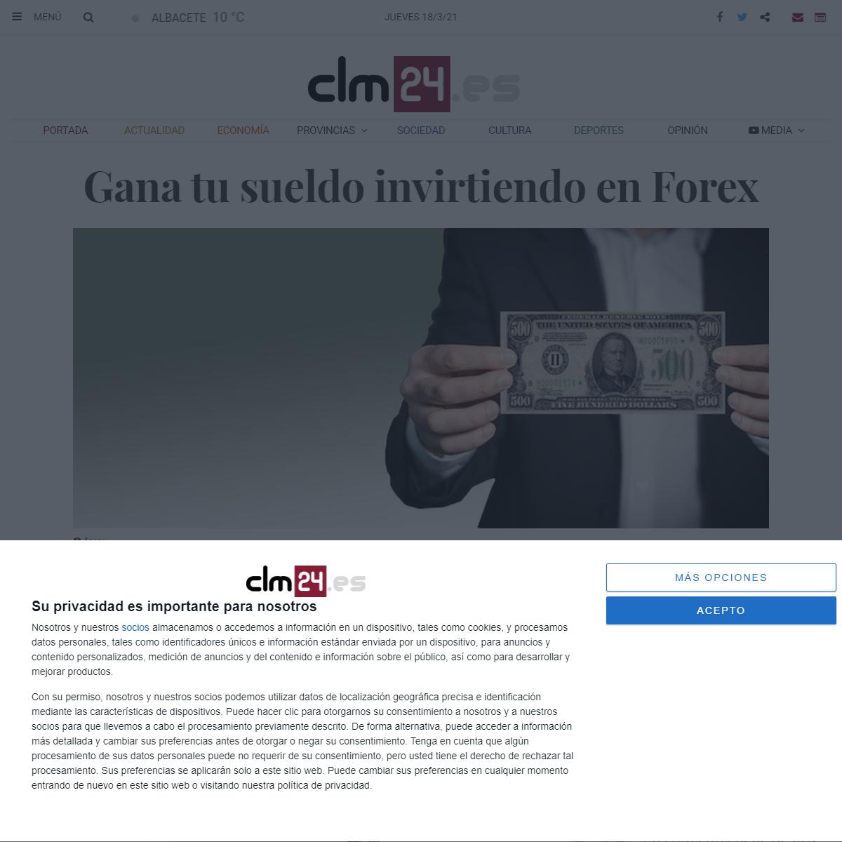 Gana tu sueldo invirtiendo en Forex