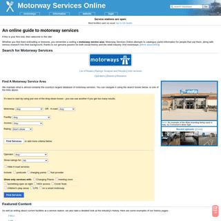 Motorway Services Online - motorway services & motorway service stations