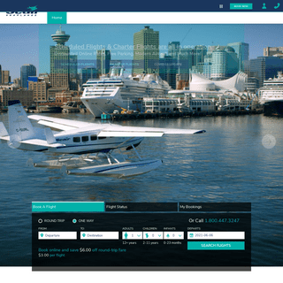 Seair Seaplanes - Flights from Vancouver Harbour & Richmond (YVR) to Nanaimo & the Gulf Islands