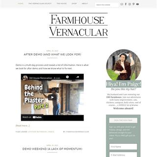 Farmhouse Vernacular - History. Design. DIY.
