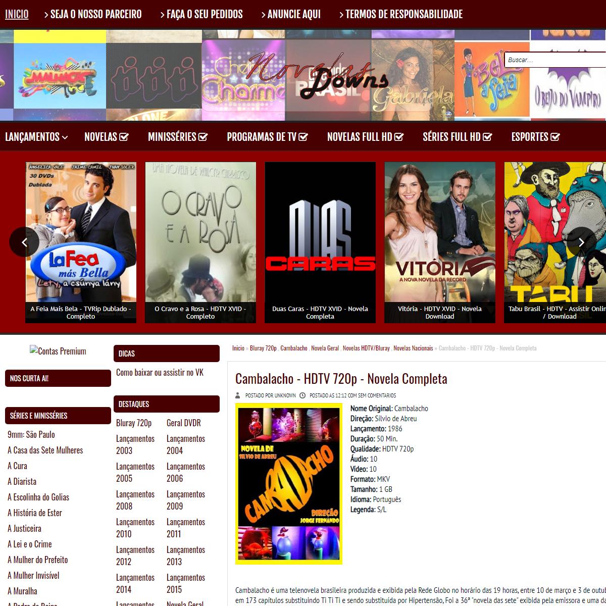 Cambalacho - HDTV 720p - Novela Completa - NovelaDowns