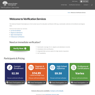 Welcome to Verification Services