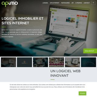 Apimo, logiciel immobilier et création de site immobilier optimisé
