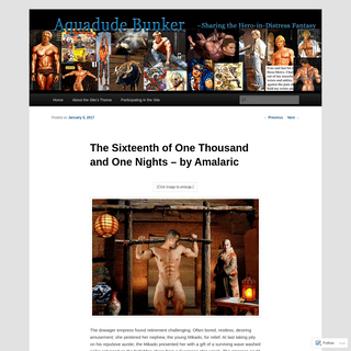 The Sixteenth of One Thousand and One Nights – by Amalaric - Aquadude Bunker