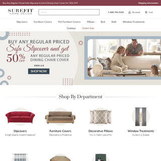 Slipcovers, Furniture Covers, Pillows & Home Furnishings – SureFit