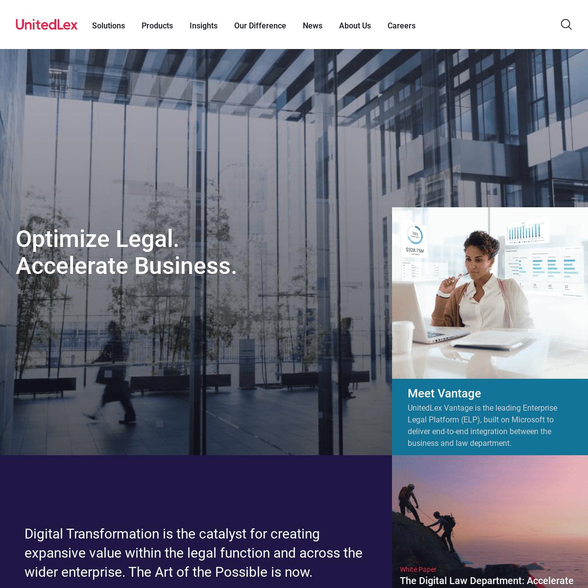 Optimize Legal. Accelerate Business. - UnitedLex