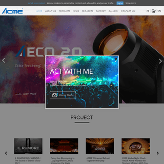 ACME[Professional,Theatrical,DJ Effect,Audio,Architectural,Commercial]