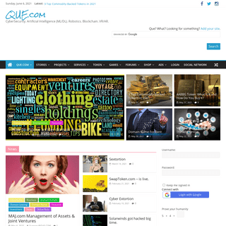 QUE.com CyberSecurity. Artificial Intelligence (ML-DL). Robotics. Blockchain. VR-AR.