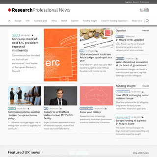 Homepage - Research Professional News