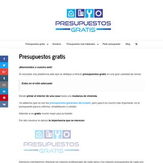 ▷ Presupuestos gratis online ACTUALIZADOS año 2021 a 0 €