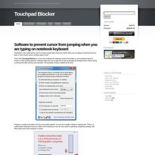 Touchpad Blocker - free software to disable touch-pad while typing