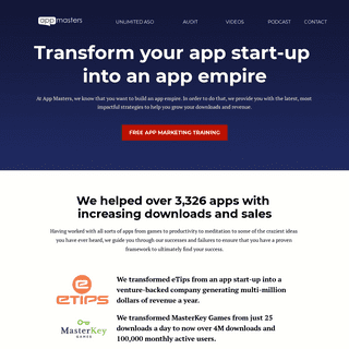 App Marketing Agency - App Masters