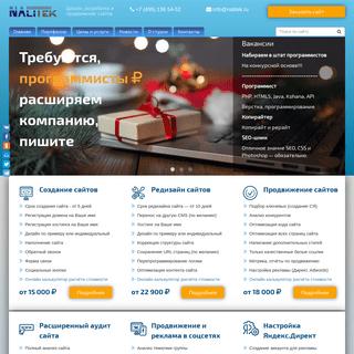 Веб студия «Налитек» - создание и продвижение сайтов, реклама