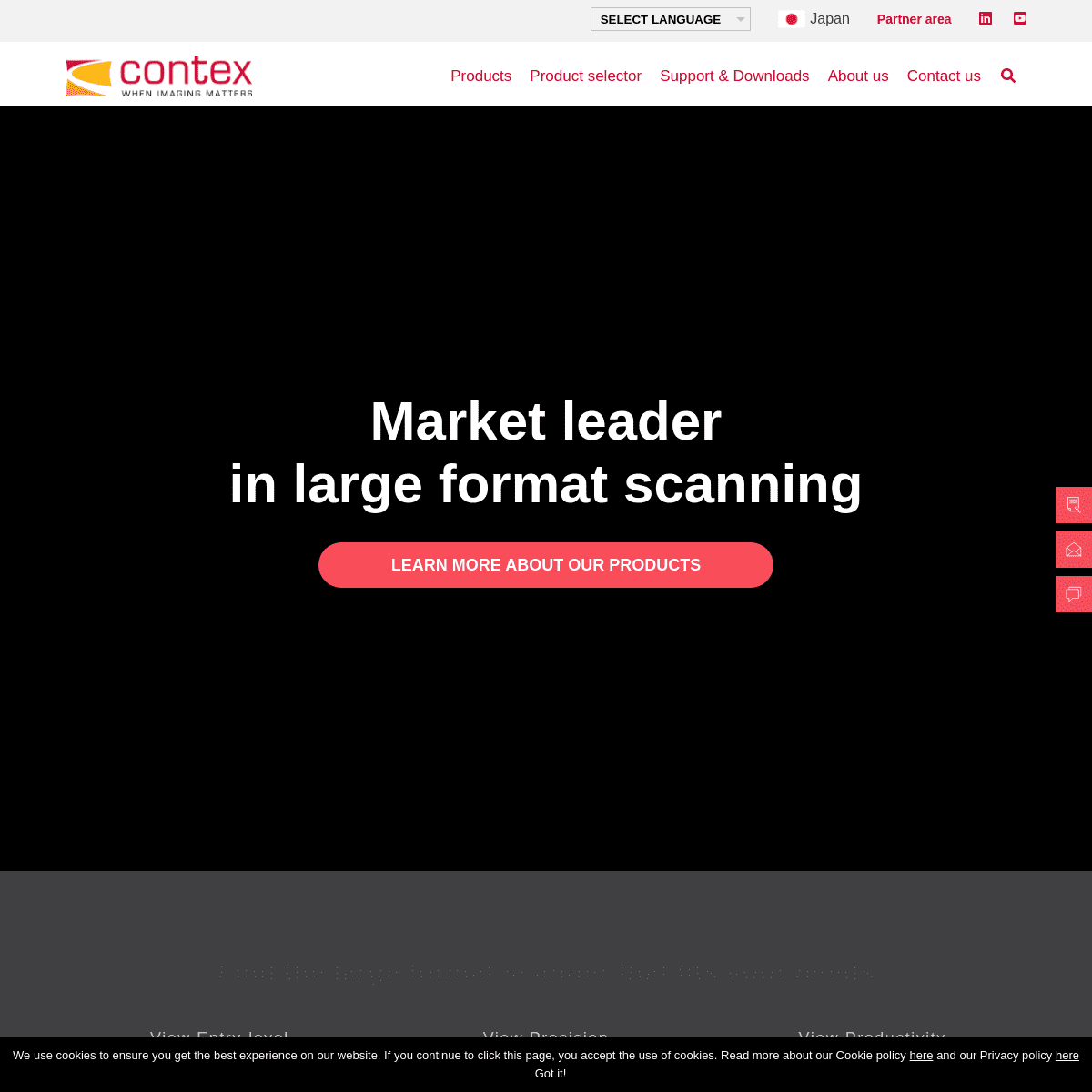Contex - Market leader in high quality large format scanning