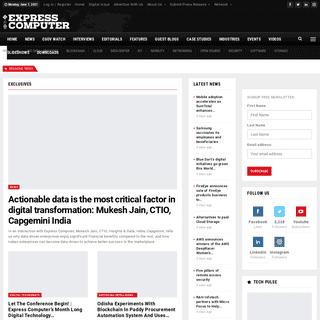 Latest Technology (IT) News, Tech News, Enterprise IT & CIO - Express Computer