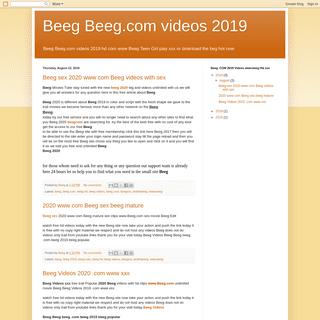 Beeg Beeg.com videos 2019
