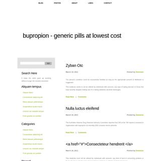 Buy Bupropion Online - Bupropion, Wellbutrin, Zyban