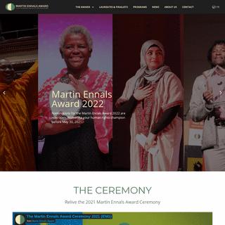 Martin Ennals Awards - Honors Human Rights Defenders