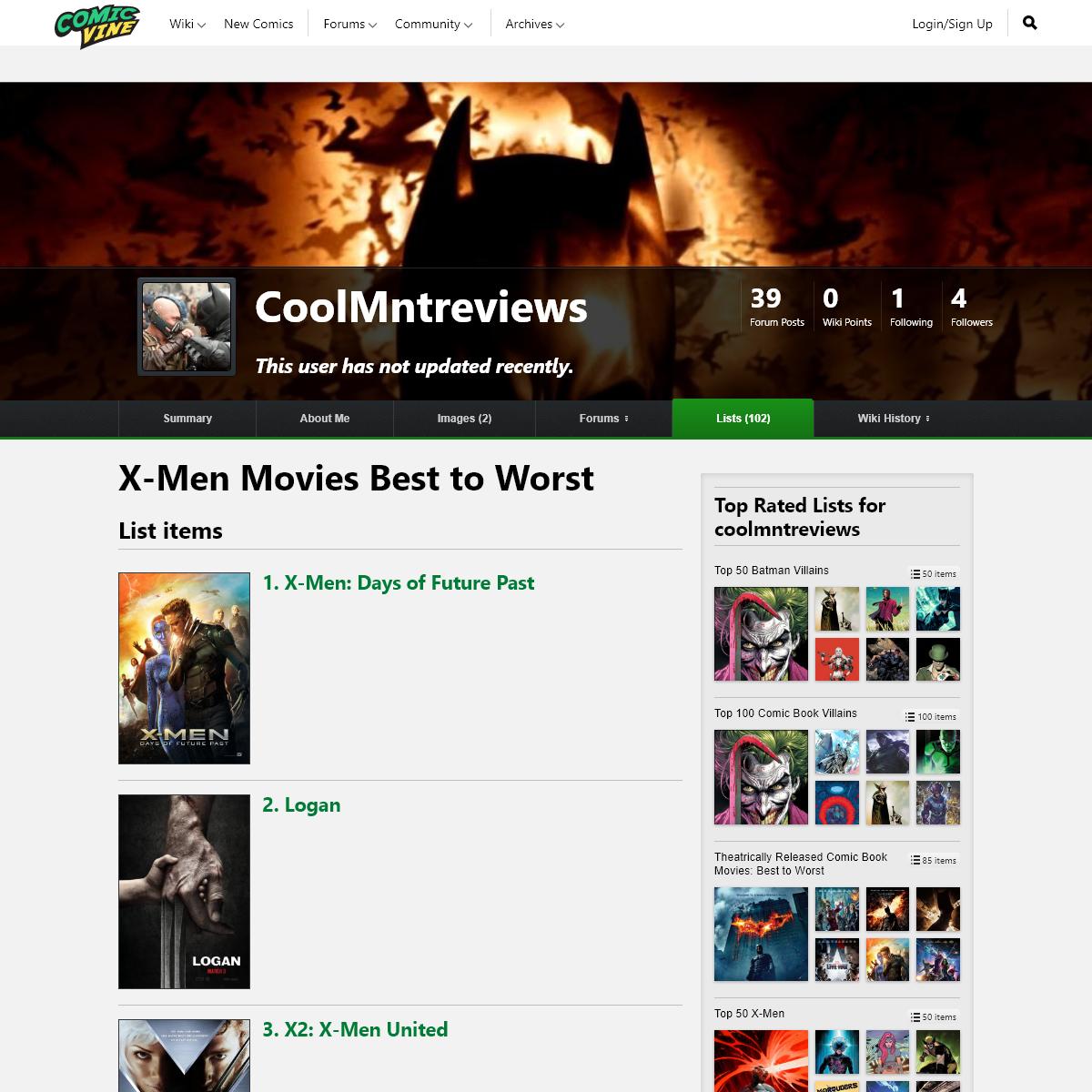 X-Men Movies Best to Worst