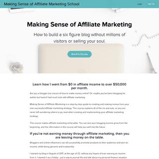 Making Sense of Affiliate Marketing - Making Sense of Affiliate