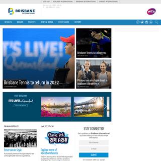 Brisbane International Tennis Tournament - 6 – 12 January 2020