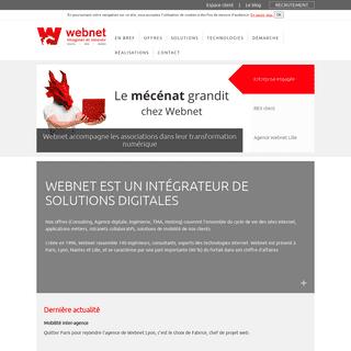 Intégrateur de solutions digitales - Webnet