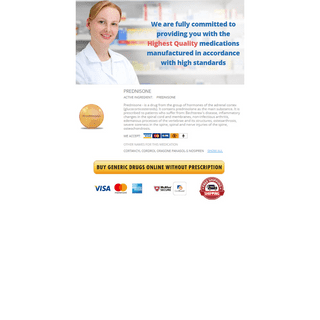 Buy Prednisone Online + Home Delivery - With Best Prices Safely