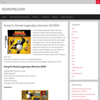 Kung Fu Panda Legendary Warriors DS ROM – ISOROMS.COM