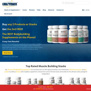 Buy Legal Steroid Alternatives - Cutting & Bulking Stacks - CrazyMass