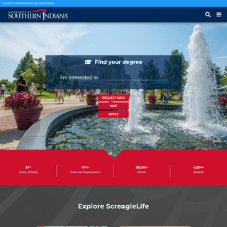 University of Southern Indiana - USI - Bachelor, Master and Doctoral Degrees