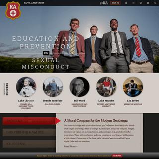 Kappa Alpha Order Kappa Alpha Order - A Moral Compass for the Modern Gentleman