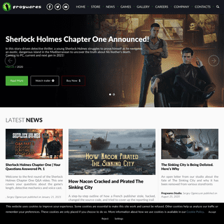 Frogwares - Creators of Sherlock Holmes games and The Sinking City