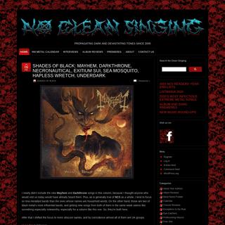 NO CLEAN SINGING - PROPAGATING DARK AND DEVASTATING TONES SINCE 2009
