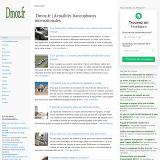 Dmoz.fr - Actualités francophones internationales -