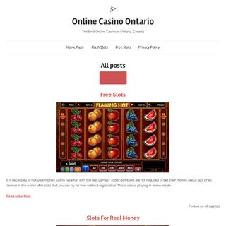 The Best Online Casino in Ontario. Bonuses in Ontario Online Casino