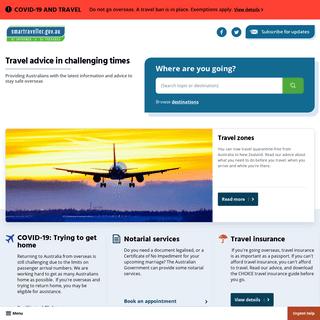 Homepage - Smartraveller