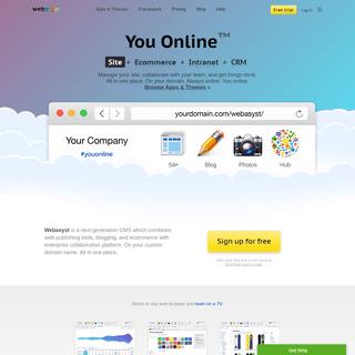 CMS + Enterprise Portal — Webasyst