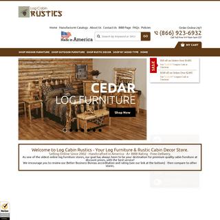 Log Furniture - Cabin Furniture - Log Cabin Rustics