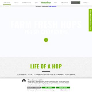 Buy Hops for Brewing - Hopsteiner - Farm Fresh Hops